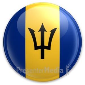 ID# 20008 - Badge of Barbados - Presentation Clipart