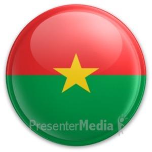 ID# 20016 - Badge of Burkina Faso - Presentation Clipart