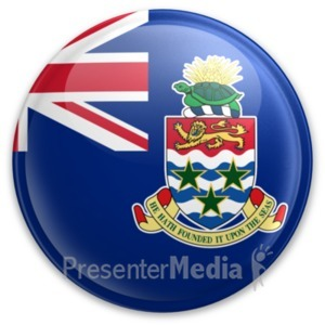 ID# 20022 - Badge of the Cayman Islands - Presentation Clipart