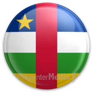 ID# 20023 - Badge of the Central African Republic - Presentation Clipart