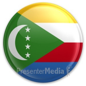 ID# 20026 - Badge of Comoros - Presentation Clipart