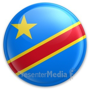 ID# 20030 - Badge of Democratic Republic of Congo - Presentation Clipart