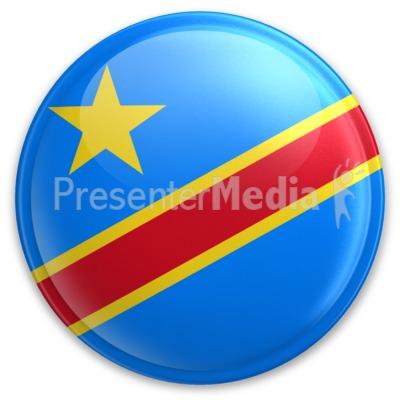 Badge of Democratic Republic of Congo PowerPoint Clip Art