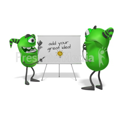 Monsters White Board Presentation clipart