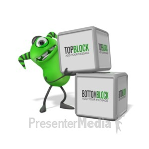 ID# 20073 - Monster Two Blocks - Presentation Clipart