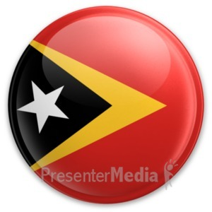 ID# 20076 - Badge of East Timor - Presentation Clipart