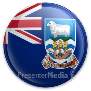 ID# 20078 - Badge of the Falkland Islands - Presentation Clipart