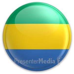ID# 20082 - Badge of Gabon - Presentation Clipart