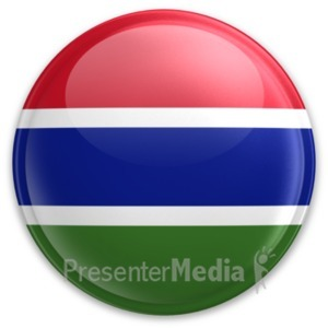 ID# 20083 - Badge of Gambia - Presentation Clipart