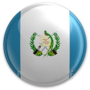 ID# 20087 - Badge of Guatemala - Presentation Clipart