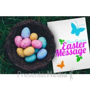 ID# 20152 - Easter Egg Basket - Presentation Clipart