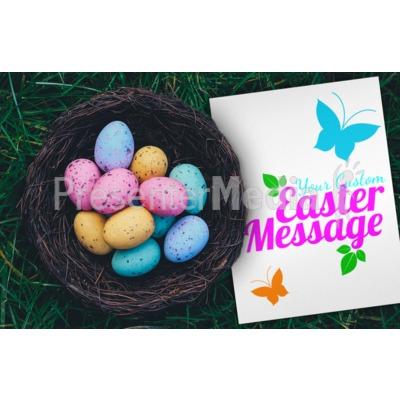 Easter Egg Basket Presentation clipart