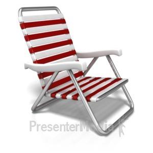 ID# 20159 - Summer Beach Chair - Presentation Clipart