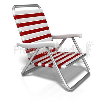 Summer Beach Chair PowerPoint Clip Art