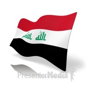 ID# 20162 - Flag Iraq - Presentation Clipart