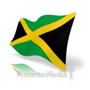 ID# 20165 - Flag Jamaica - Presentation Clipart