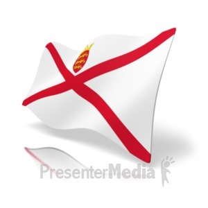 ID# 20167 - Flag Jersey - Presentation Clipart