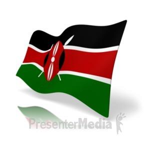 ID# 20168 - Flag Kenya - Presentation Clipart