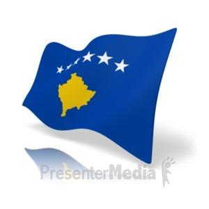 ID# 20169 - Flag Kosovo - Presentation Clipart