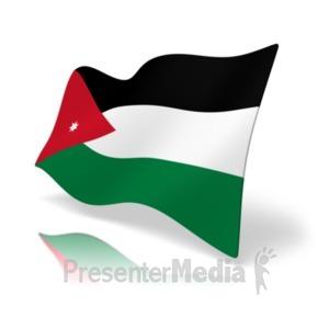 ID# 20171 - Flag Jordan - Presentation Clipart