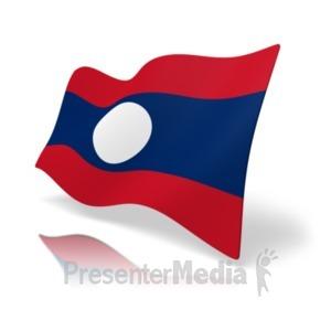 ID# 20172 - Flag Laos - Presentation Clipart