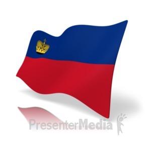 ID# 20174 - Flag Liechtenstein - Presentation Clipart