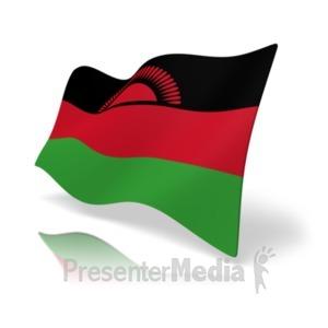 ID# 20175 - Flag Malawi - Presentation Clipart