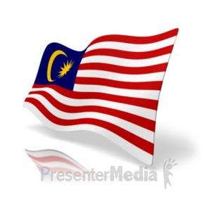 ID# 20176 - Flag Malaysia - Presentation Clipart