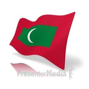 ID# 20177 - Flag Maldives - Presentation Clipart