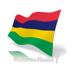 ID# 20180 - Flag Mauritius - Presentation Clipart