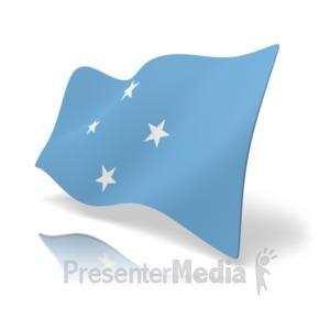 ID# 20181 - Flag Micronesia - Presentation Clipart