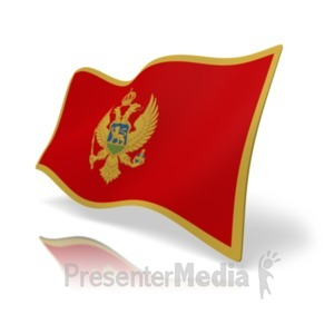 ID# 20183 - Flag Montenegro - Presentation Clipart