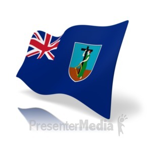 ID# 20184 - Flag Montserrat - Presentation Clipart