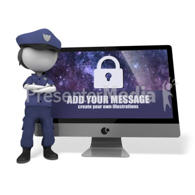 Police Officer Cyber Security Presentation clipart
