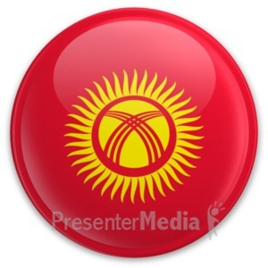 ID# 20207 - Badge of Kyrgyzstan - Presentation Clipart