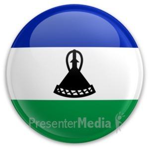 ID# 20209 - Badge of Lesotho - Presentation Clipart