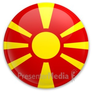 ID# 20211 - Badge of Macedonia - Presentation Clipart