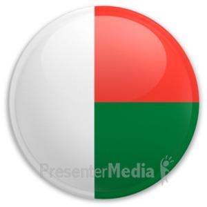 ID# 20212 - Badge of Madagascar - Presentation Clipart