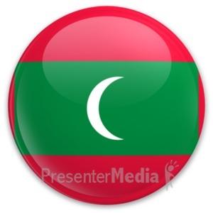 ID# 20213 - Badge of Maldives - Presentation Clipart