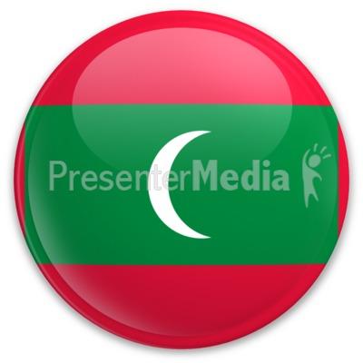 Badge of Maldives PowerPoint Clip Art