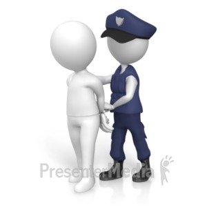 ID# 20228 - Figure Arrested Police - Presentation Clipart