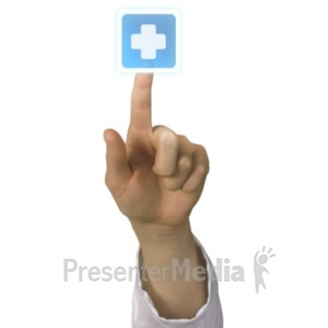 ID# 20251 - Medical Push Cross - Presentation Clipart