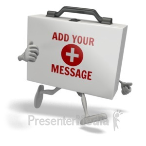 ID# 20267 - First Aid Kit Running - Presentation Clipart