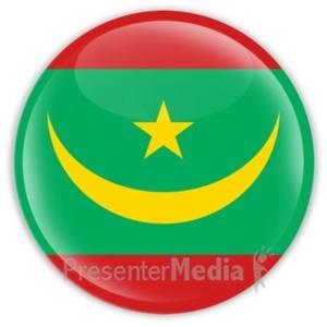 ID# 20273 - Badge of Mauritania - Presentation Clipart