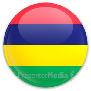 ID# 20274 - Badge of Mauritius - Presentation Clipart