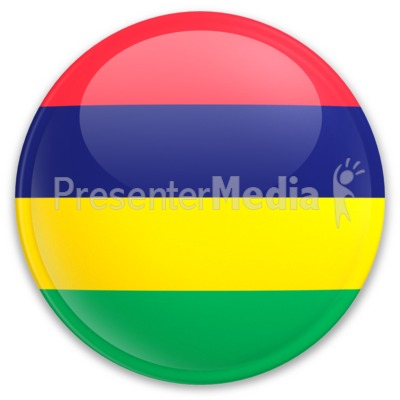 Badge of Mauritius PowerPoint Clip Art