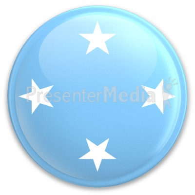 Badge of Micronesia PowerPoint Clip Art