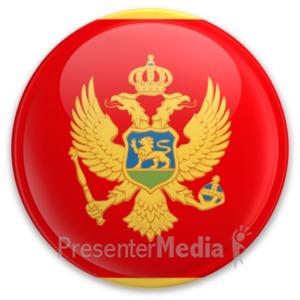ID# 20277 - Badge of Montenegro - Presentation Clipart
