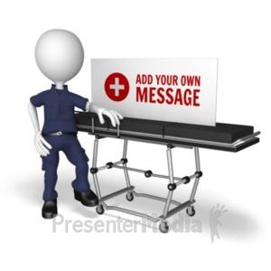 ID# 20281 - Emt Gurney Sign - Presentation Clipart