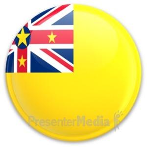 ID# 20291 - Flag Niue Button - Presentation Clipart